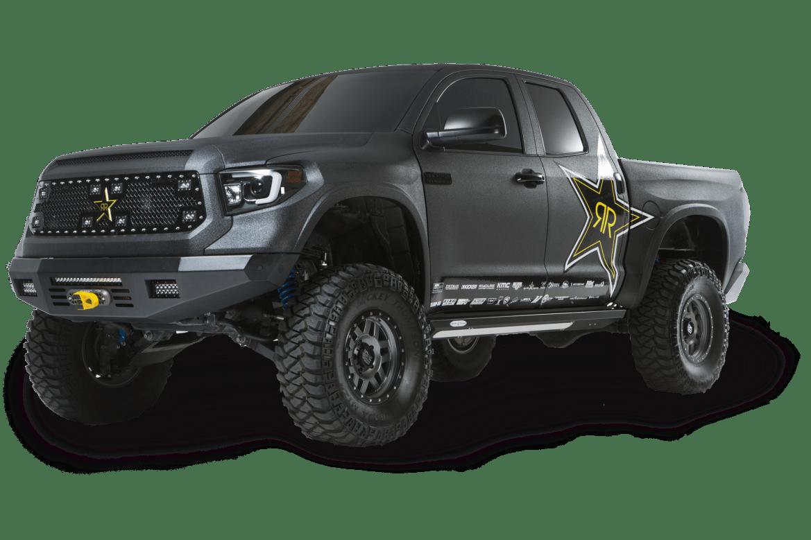 Bullet Liner on a Rockstar sponsored vehicle.
