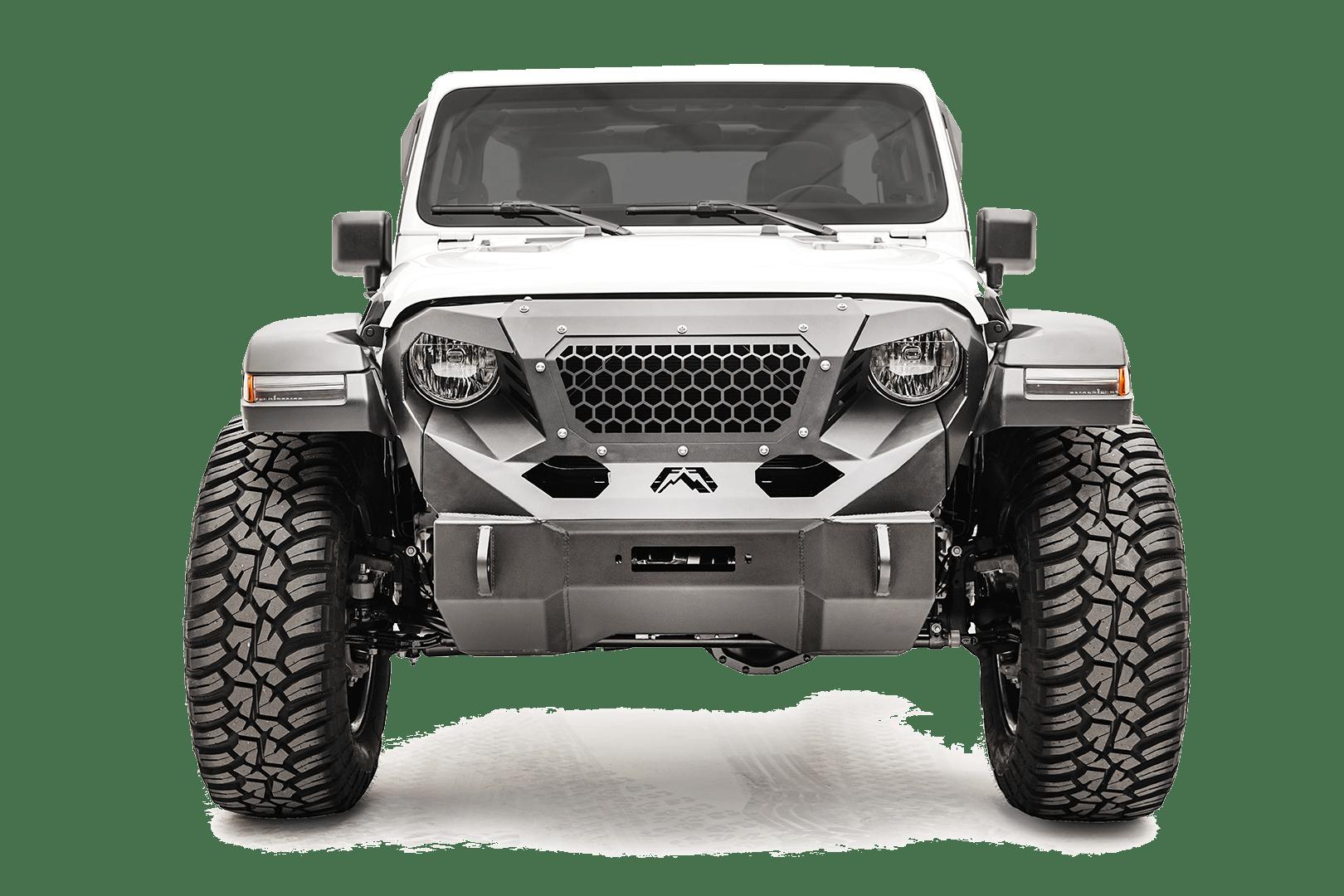 Fabfours Jeep Gladiator Grumper front bumper.
