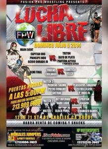 lucha show 7-6-14 flyer