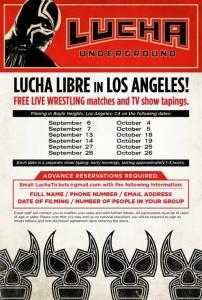 Lucha Underground sept-oct 2014 flyer