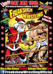 Freakshow Wrestling 1-10-15 flyer