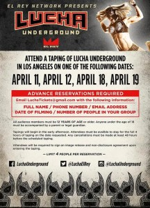 Lucha Underground 4-2015 flyer