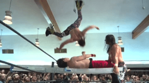 The Young Bucks about to destroy Mike Bailey