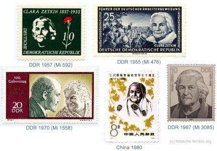Clara Zetkin på frimærker:Clara Zetkin on stamps