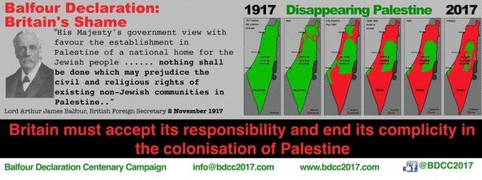 Britisk kampagne for at få regeringen for at indfri deres ansvar overfor palæstinenserne, der blev ofre for koloniseringen af Palæstina