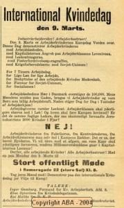 Indkaldelse til 9. marts (!) møde i Rømersgade 9.3.1931 fra AO. Foto: ABA