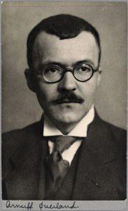 Arnulf Øverland, Foto: Postkort, Nasjonalbiblioteket