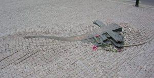 Jan Palach Momrial i Prag. Kilde: https://www.atlasobscura.com/places/jan-palach-memorial