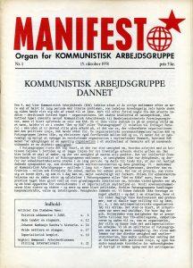Forside: Manifest nr. 1