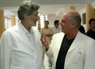 Edward Said in conversation with Daniel Barenboim in Sevilla in 2002. Author: Barenboim-Said Akademie gGmbH. Public Domain