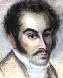 Pastel portrait of Simón Bolívar in Haití, 1816. The portrait belonged to the Haitian-Cuban La Barrère/Labarrera family of Guantánamo. It is now at the Fundación John Boulton, Caracas. Author: Anonymous, 1816. Public Domain.