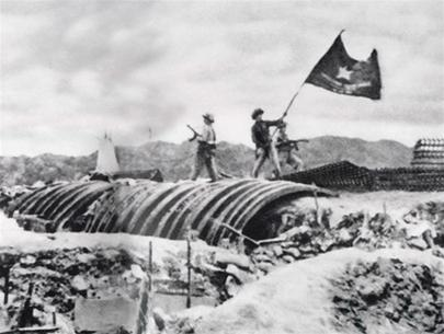 Victory in Battle of Dien Bien Phu. 1954. Source: Vietnam People's Army museum. Photo: Vietnam People's Army, First publish in 1954. Public Domain.