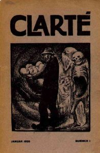 Forsiden på 1. nr. af Clarté, januar 1926