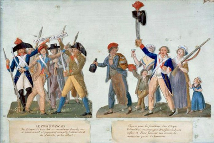 La Liberté ou la Mort ! – Liberty or Death Gouache by Jean-Baptiste Lesueur, who lived 1749-1826, and created this artwork around 1792.