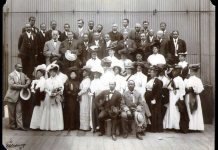 Group portrait of the delegates to the Niagara Movement meeting in Boston, Massachusetts in 1907;W. E. B. Du Bois is seated in front row, next to him is Clement G. Morgan. Citation - Chickerings, E.. Niagara Movement delegates, Boston, Mass., 1907. W. E. B. Du Bois Papers (MS 312). Special Collections and University Archives, University of Massachusetts Amherst Libraries. Date: 28 August 1907. Source: W. E. B. Du Bois Papers http://credo.library.umass.edu/view/full/mums312-i0402 Photo: E. Chickerings. Public domain. Se 26. februar 1868.
