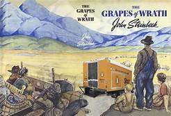 The Grapes of Wrath is an American realist novel written by John Steinbeck and published in 1939.The book won the National Book Award and Pulitzer Prize for fiction, and it was cited prominently when Steinbeck was awarded the Nobel Prize in 1962.. Text: Wikipedia.org