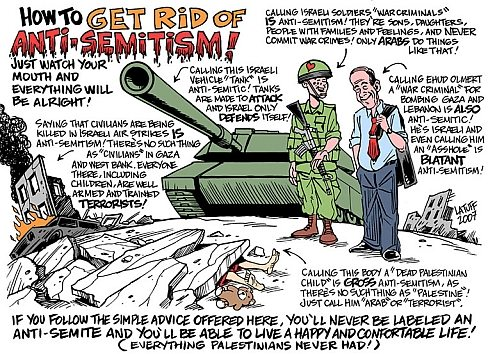 How to get rid of anti-semitism. Satire af Latuff, 2007
