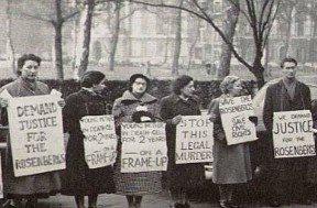 Demonstration til støtte for Rosenberg 1952.