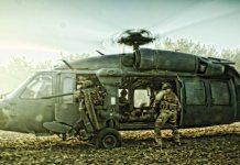 "Helicopter scene fra filmen ""Armadillo"""