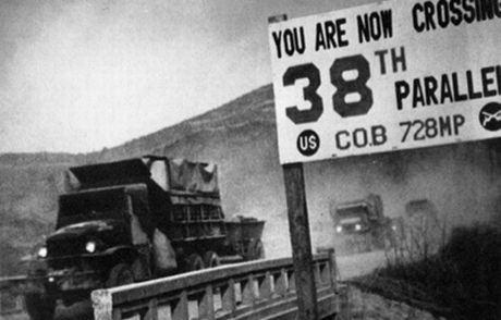 U.S. forces withdraw south of the 38th parallel following their defeat in the war.