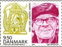 Henry Heerup på dansk frimærke, 2010