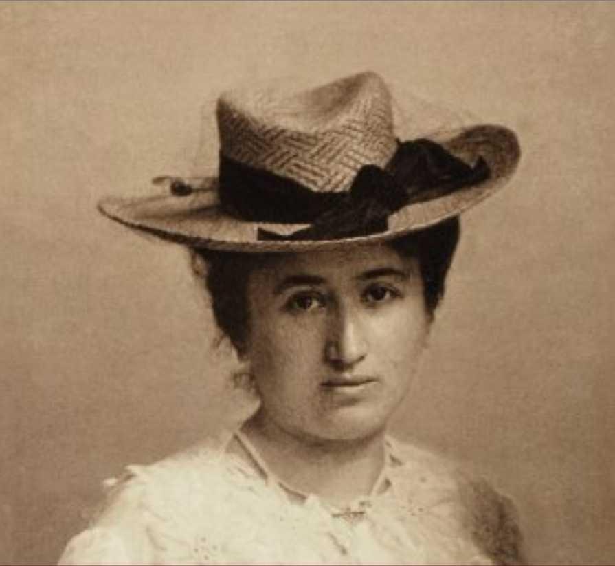 Unknown photographer around 1895-1900 – Live portrait of Rosa Luxemburg (1871-1919), a Polish-born German Marxist political theorist, socialist philosopher, and revolutionary