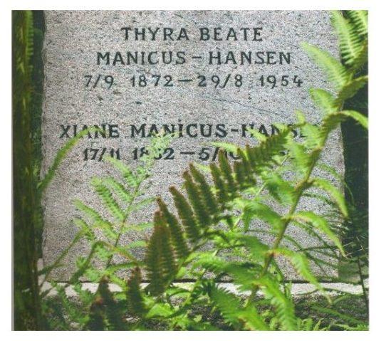 Thyra Manicus-Hansens familiegravsted på Assistens Kirkegård i København