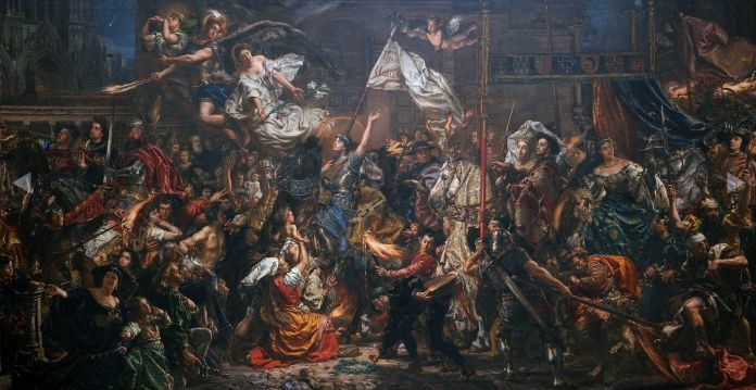 Nationalromantic painting of Joanna d`Arc. Painted by Jan Matejko, 1886. Public Domain.
