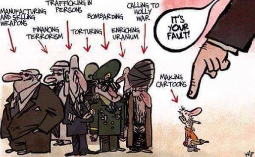 Dangerous people. Cartoon by Kap, La Vanguardia, Spain - 1/11/2015