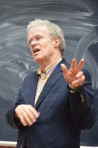 Erik Olin Wright, a sociologist, giving a lecture at faculty of sociology of Taras Shevchenko National University of Kyiv on March 13, 2013. Foto: Aliona Lyasheva. (CC BY-SA 3.0)