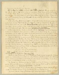 1. side af originalmanuskript for Martin Andersen-Nexøs Pelle Erobreren. Kilde: Det Kgl. Bibliotek
