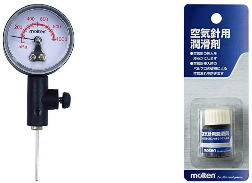 おすすめの空気圧計は、モルテン製のアナログタイプ
