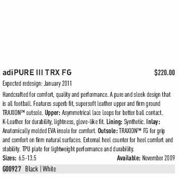 adiPURE III Katalogbeschreibung