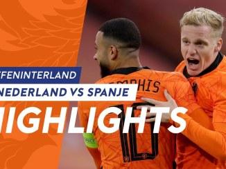 2020 - 2020国際親善試合オランダ代表-スペイン代表 アルバロ・モラタの好アシストによるゴールもファン・デ・ベーグの同点ゴールによりドロー決着