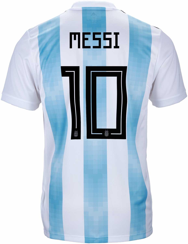 Lionel Messi Home : lionel, messi, Adidas, Lionel, Messi, Argentina, Jersey, 2018-19, SoccerPro