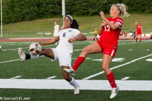 Huesgen's Late Goal Sends Ursuline past Timberland