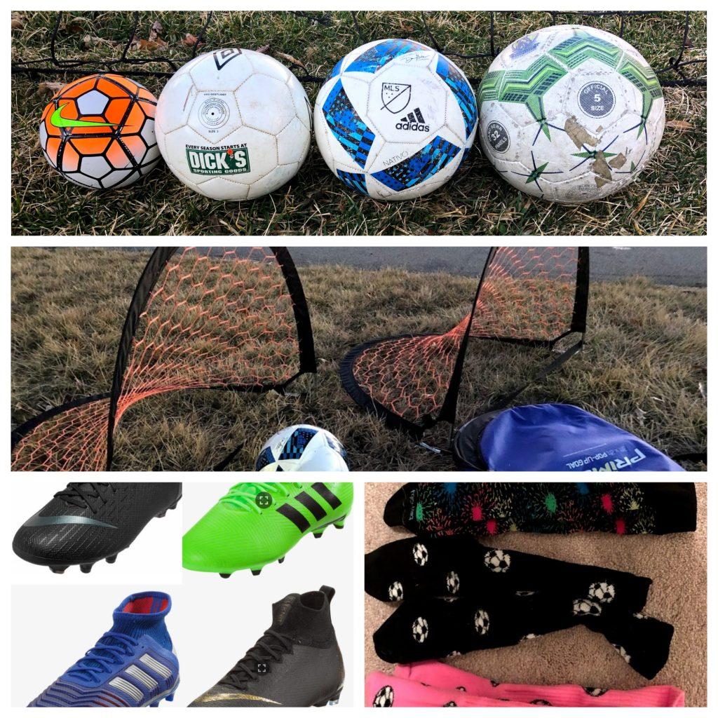 multiple colors Soccer Ball Athletic Crew Socks