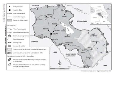 La frontière du cessez-le-feu de mai 1994 entre le Haut-Karabagh et l'Azerbaïdjan