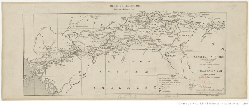 Société de géographie. Séance du 9 décembre 1898. Mission Salesses (Guinée françse)