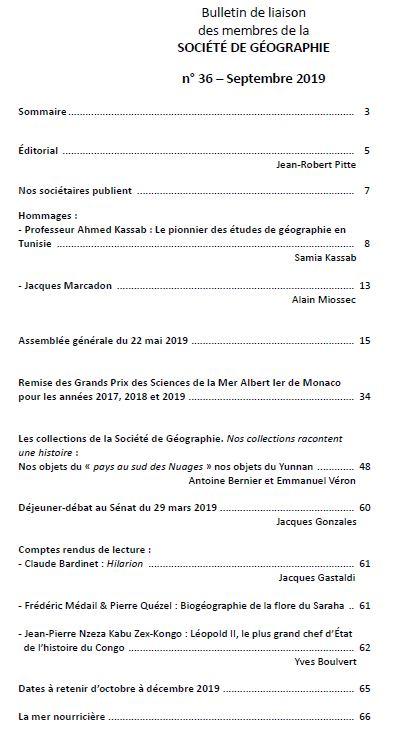 Sommaire bulletin 36