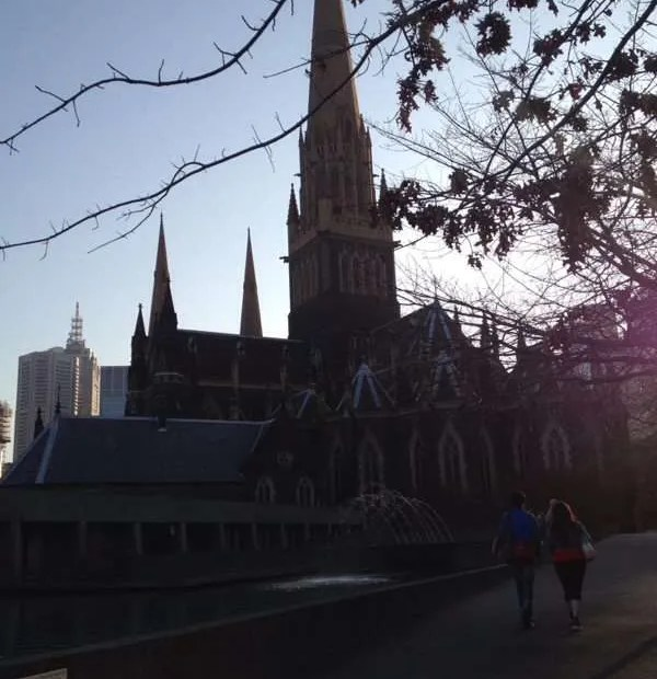 silhouette of St Patrick's' Cathedral