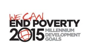 """MDG logo and words """"We can end poverty"""""""
