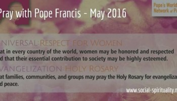 graphic with May 2016 prayer intention