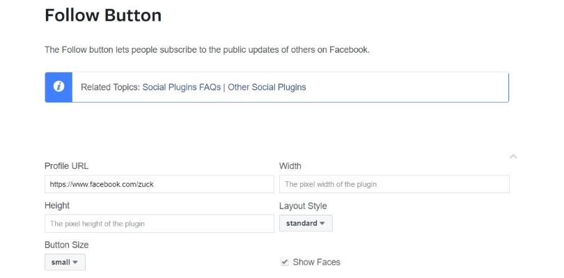 Follow Button Customization