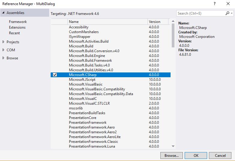 How to fix missing compiler member error Microsoft.CSharp