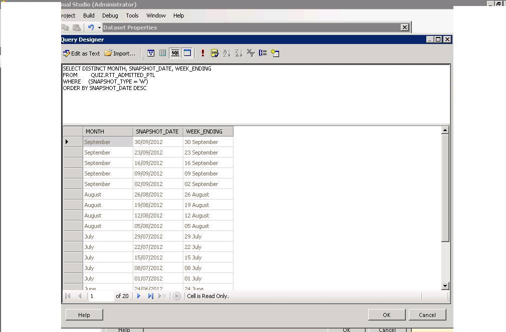 SSRS Parameters Default value as latest record