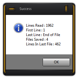 Read Set of range of lines in one big file and create multiple files