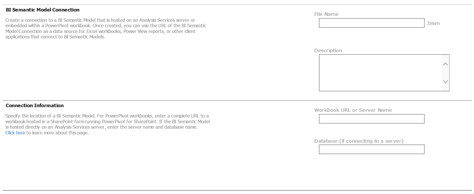 Creating BISM Connection to tabular model cube in SQL 2012