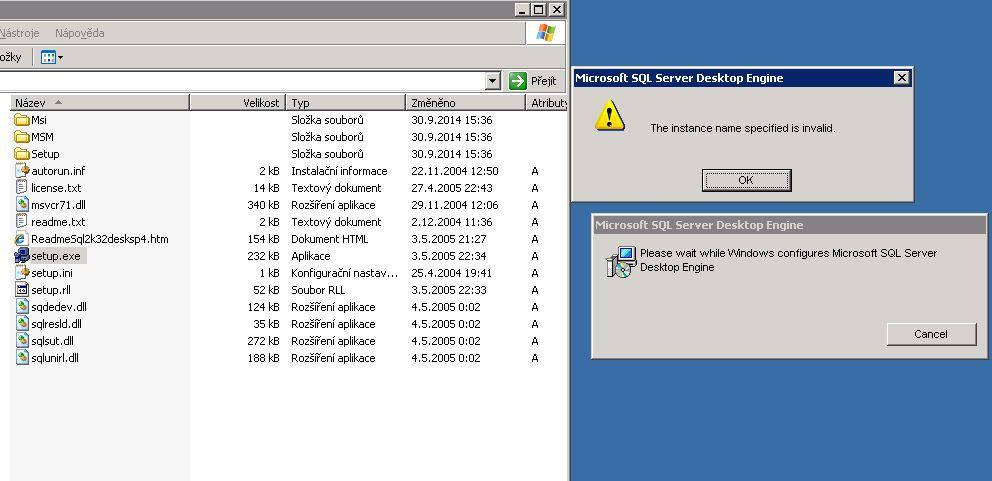 SQLWRITER (hr = 0x80004005. SQLSTATE: HYT00. Native Error: 0)