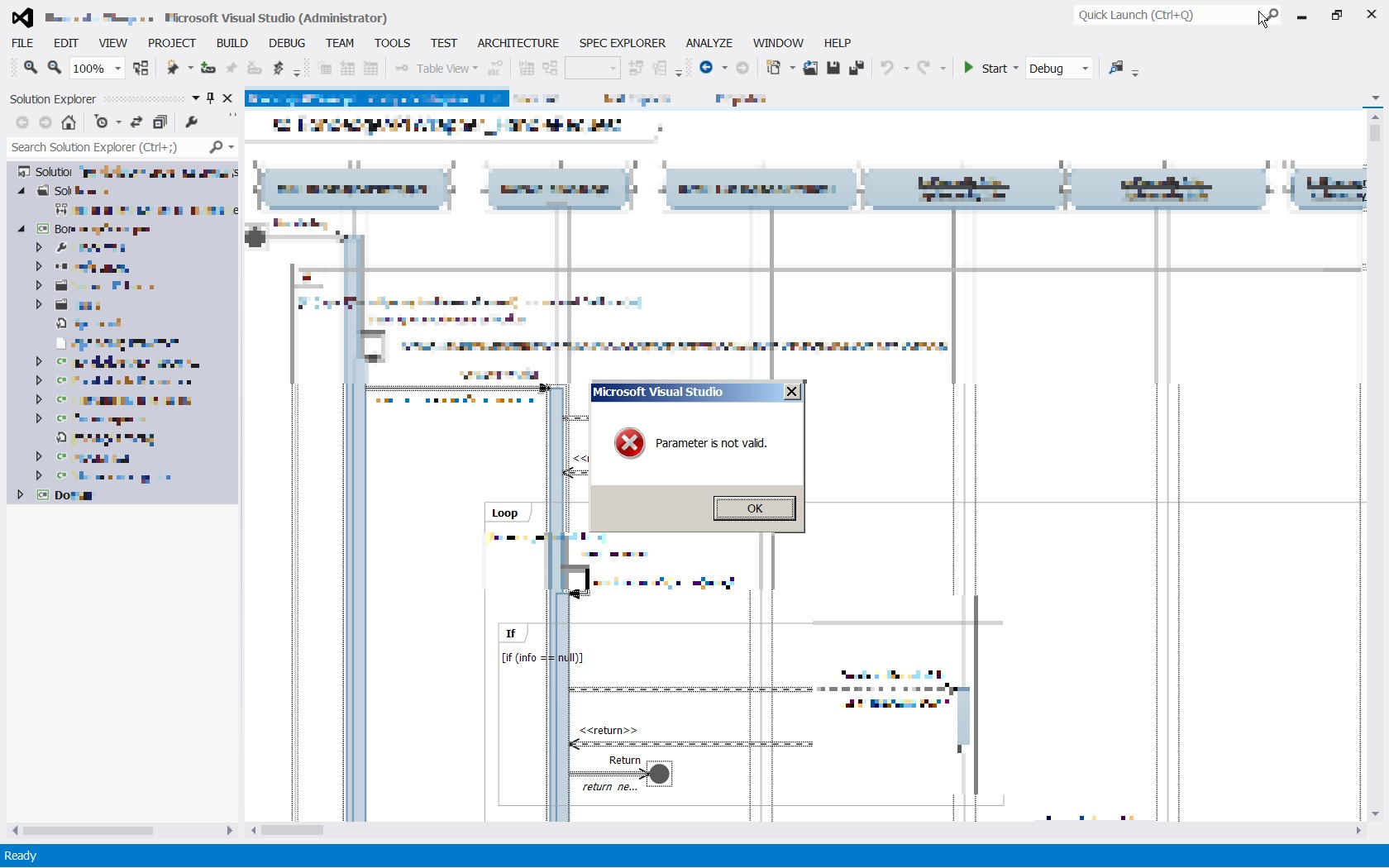 visual studio generate sequence diagram 2008 chevy tahoe track rod problems attempting to copy large produces